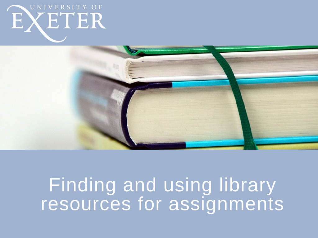 Introduction to finding resources for assignments