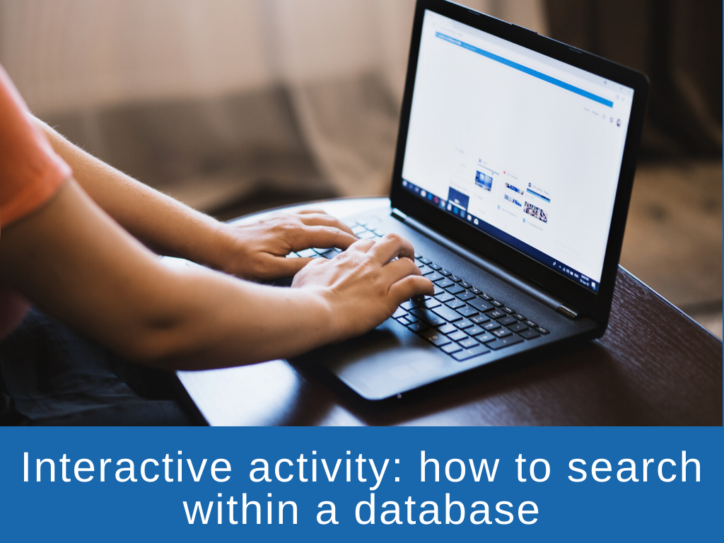 Interactive activity - searching within a database