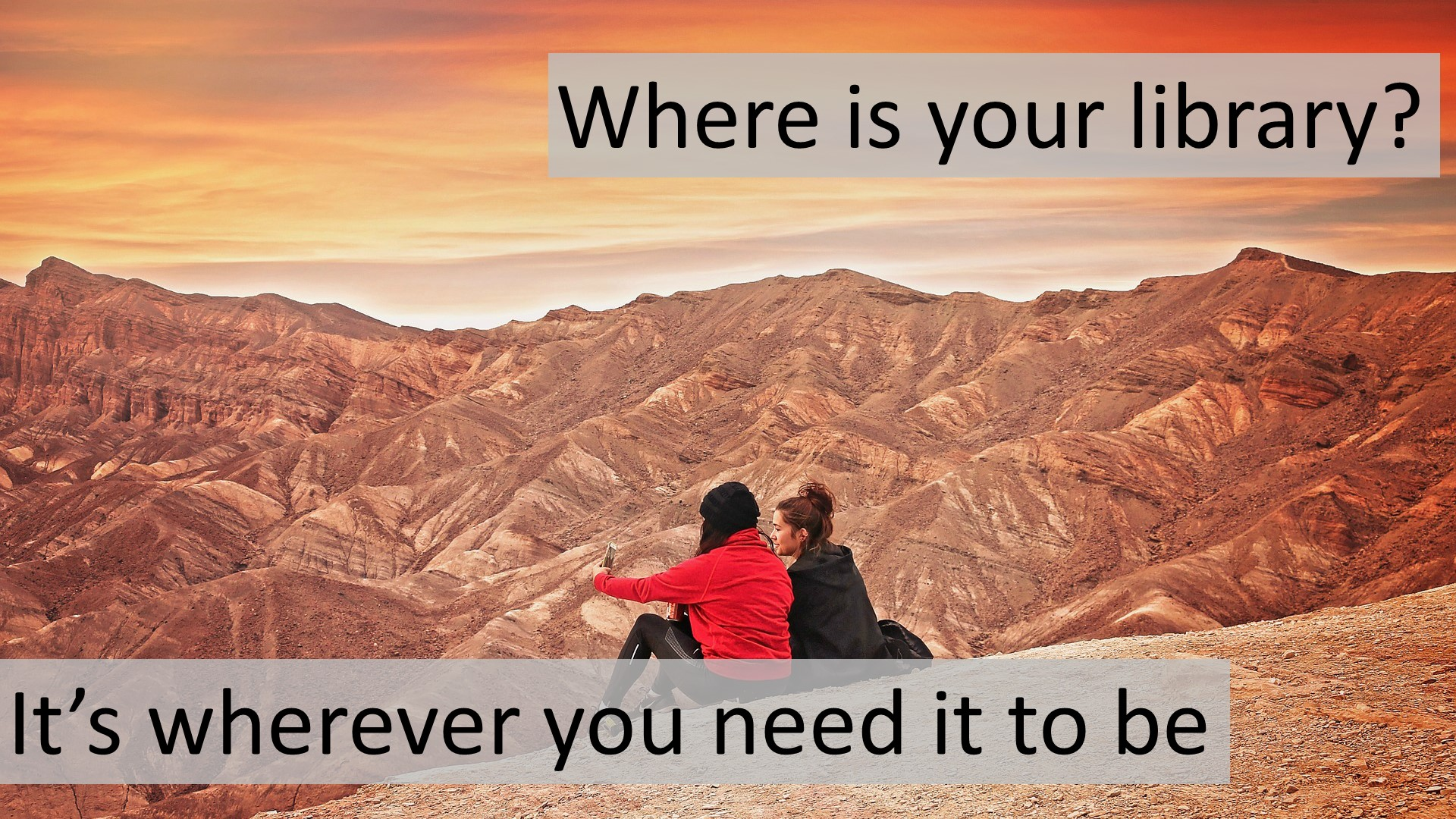 It's wherever you need it to be