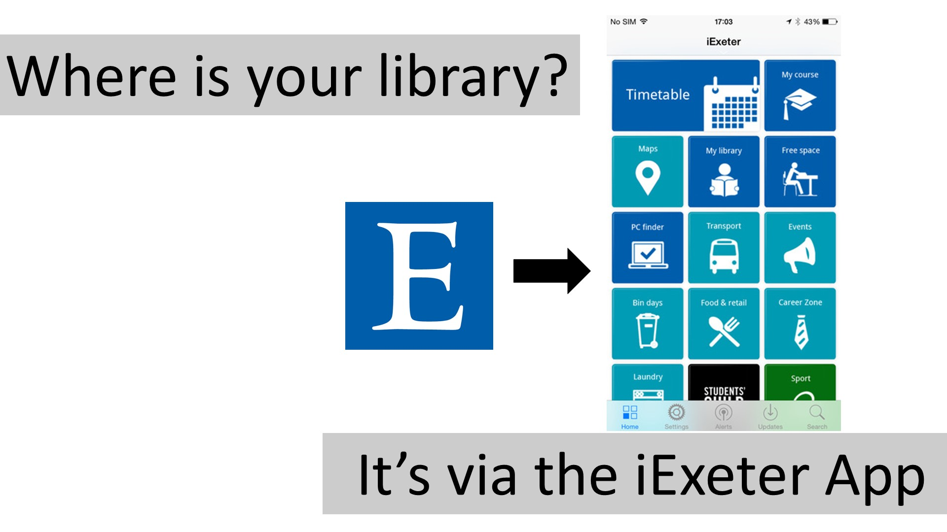 It;s via the iExeter App