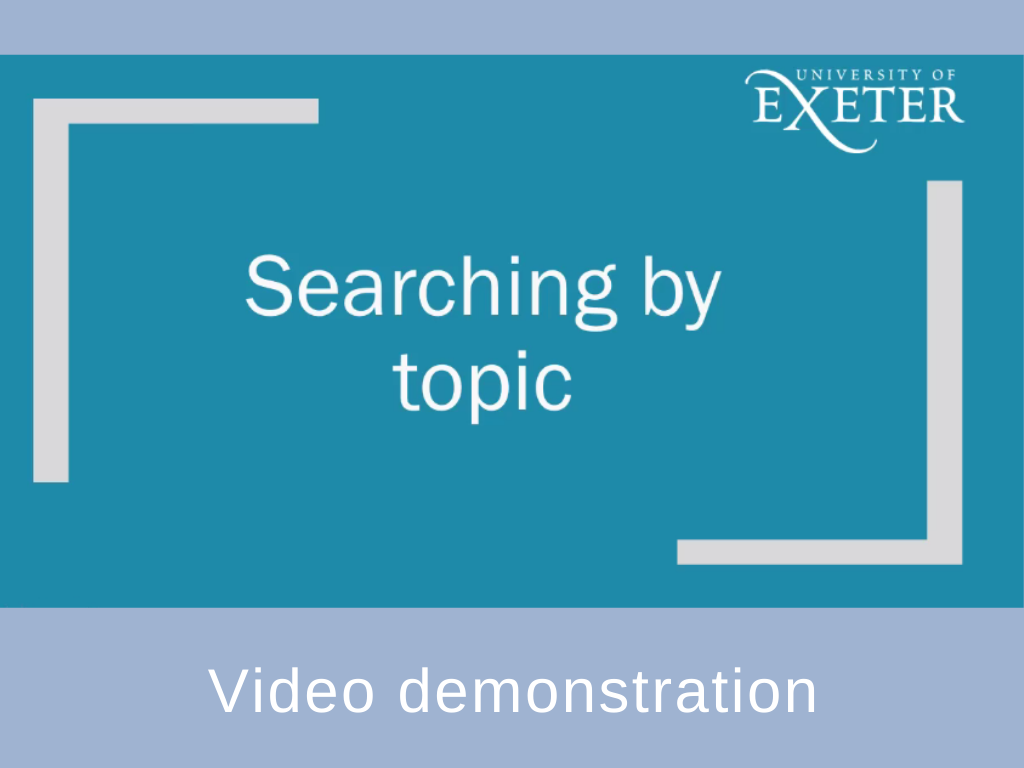 Searching by topic video