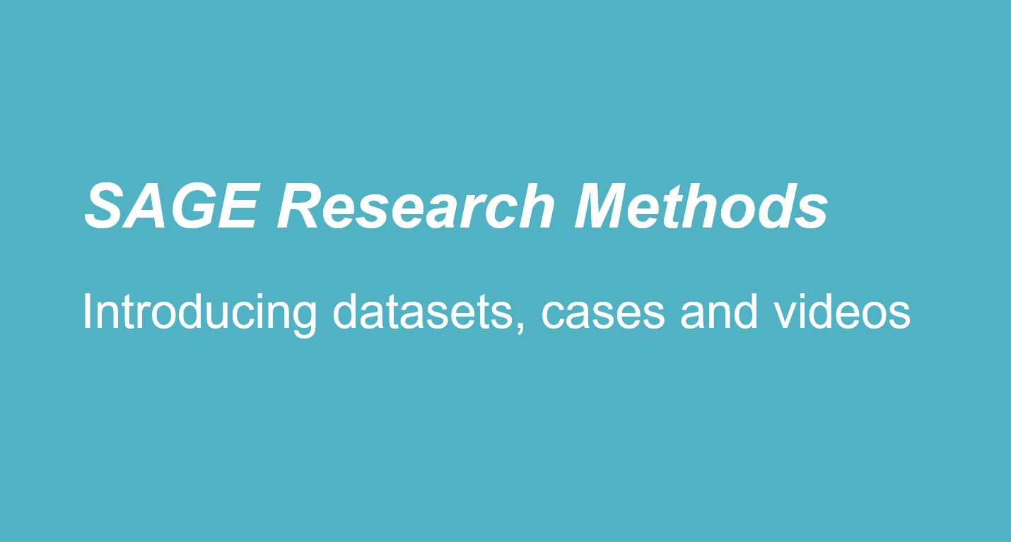 Link to PDF on Sage Research Methods: introducing datasets, cases and videos