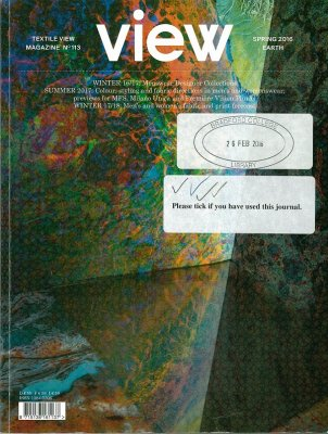 Textile view magazine.