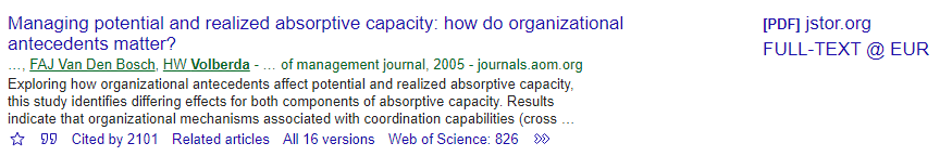 Google Scholar example authors underlined