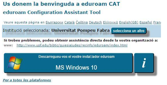 Configurar eduroam a Windows