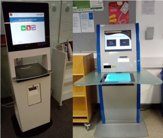 Self service kiosks in IT Carlow LRC