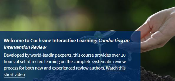 Log in to Cochrane Interactive Learning