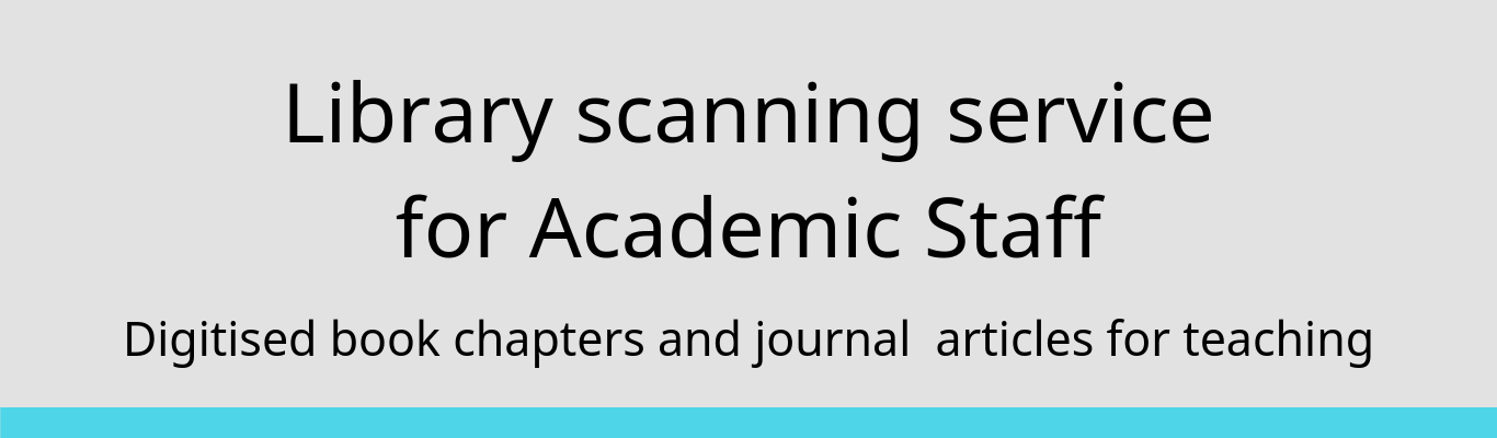 Library scanning service for academic staff