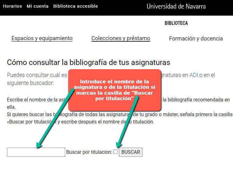 Captura de pantalla del nuevo buscador de asignaturas