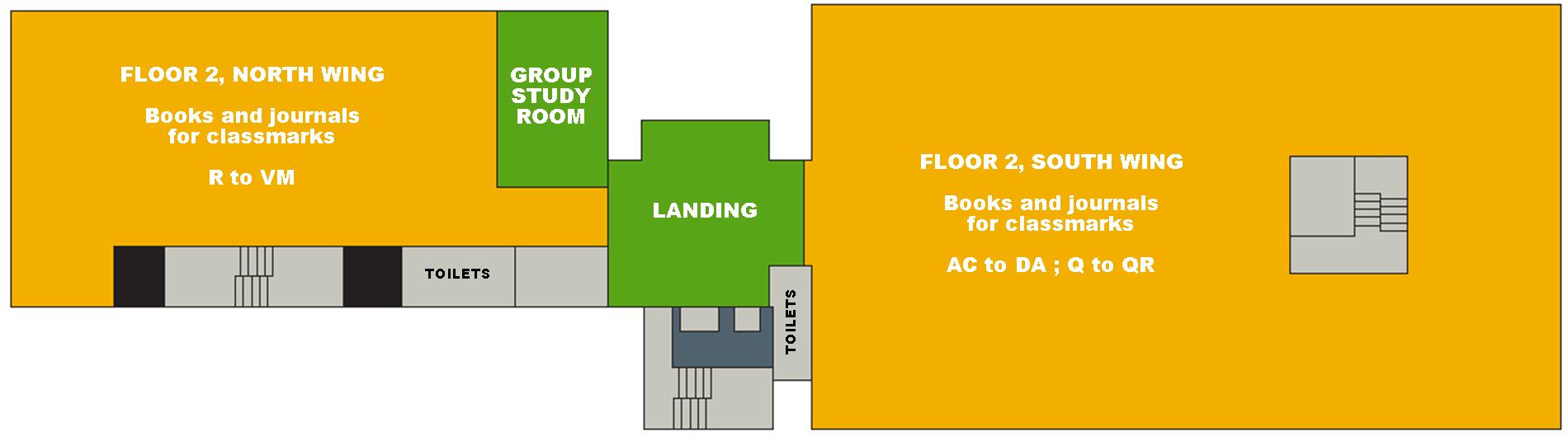 Second Floor Map