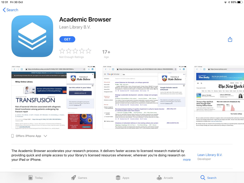 Academic Browser App