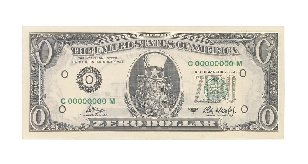 Cildo Meireles, Zero Dollar, 1984