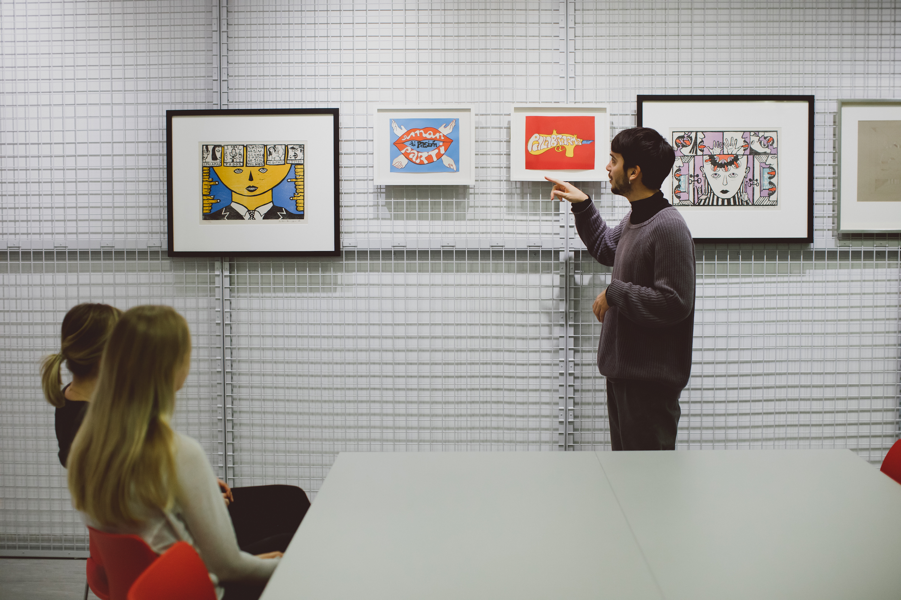 people in the ESCALA collection being taught