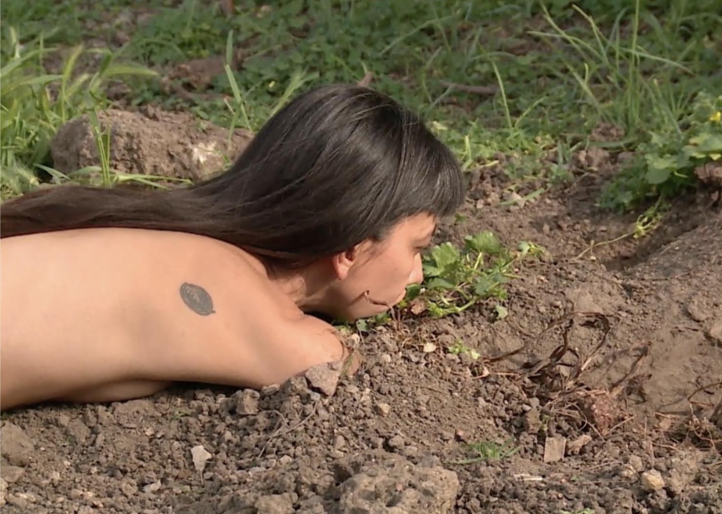 Regina José Galindo 'Raices' (video still) 2015