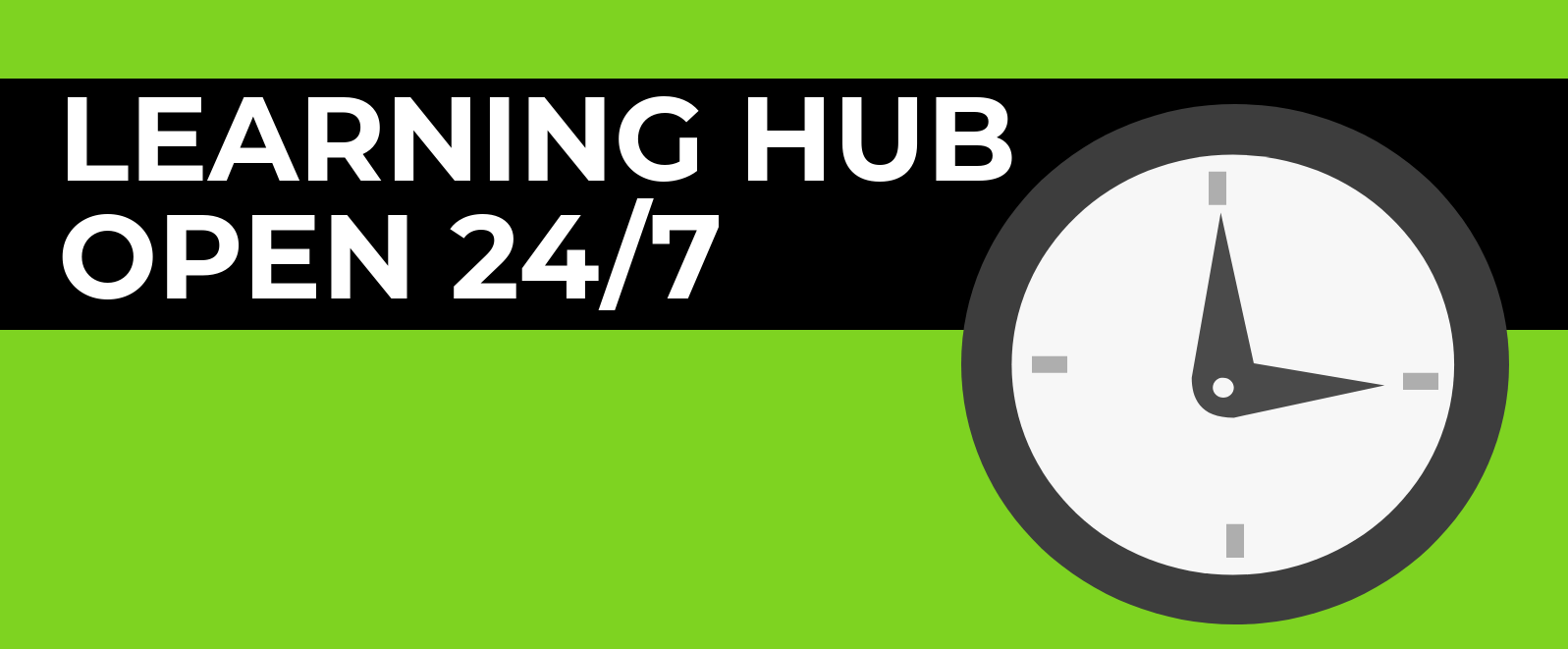 Southend Learning Hub is open 24 hours 7 days a week - click for more details