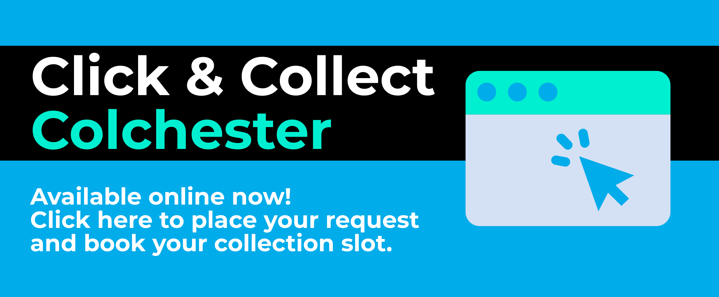 Click and collect colchester coming soon on 3rd august
