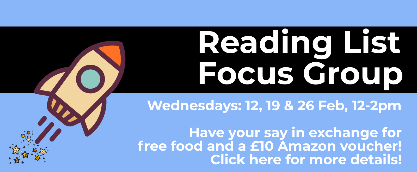 Reading List Focus Group. Click for more information