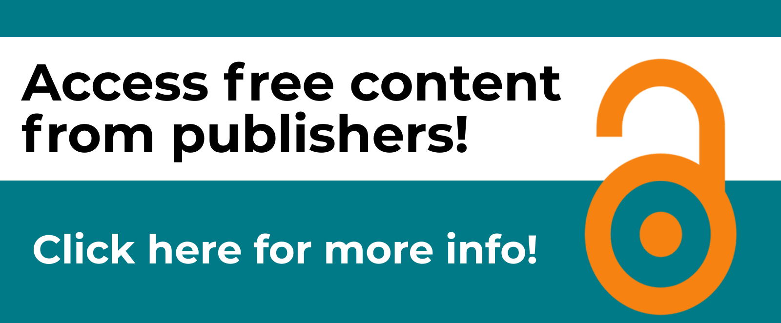 Access free content from publishers - click here