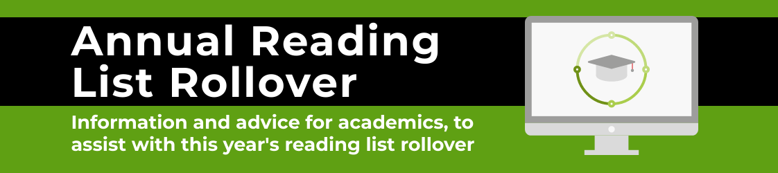 annual reading list rollover - information and advice for academics