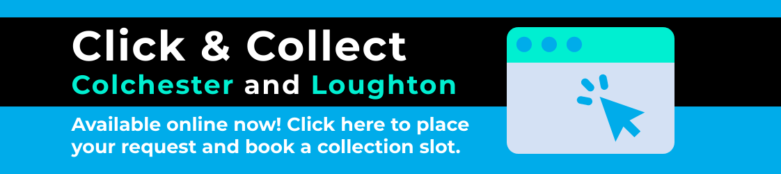 click and collect is now available. click here to place your request and book a collection slot