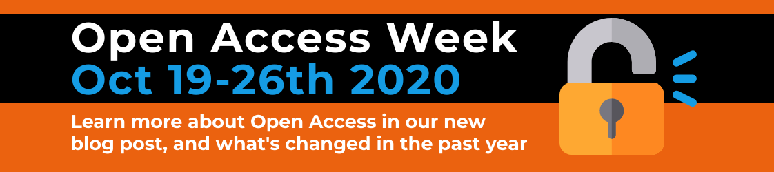 open access week - learn more about open access in our new blog post, and what's changed in the past year