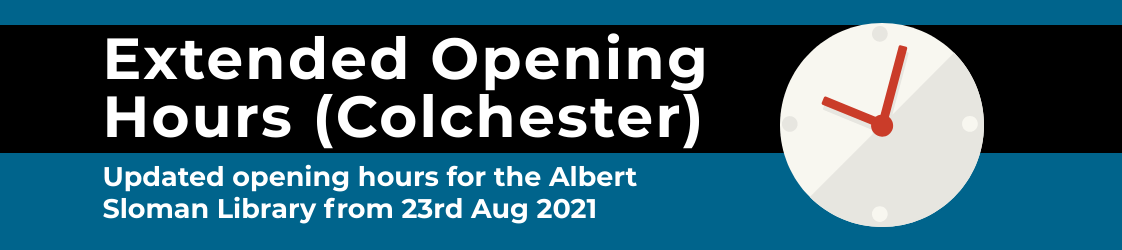 Extended opening hours for the Albert Sloman library