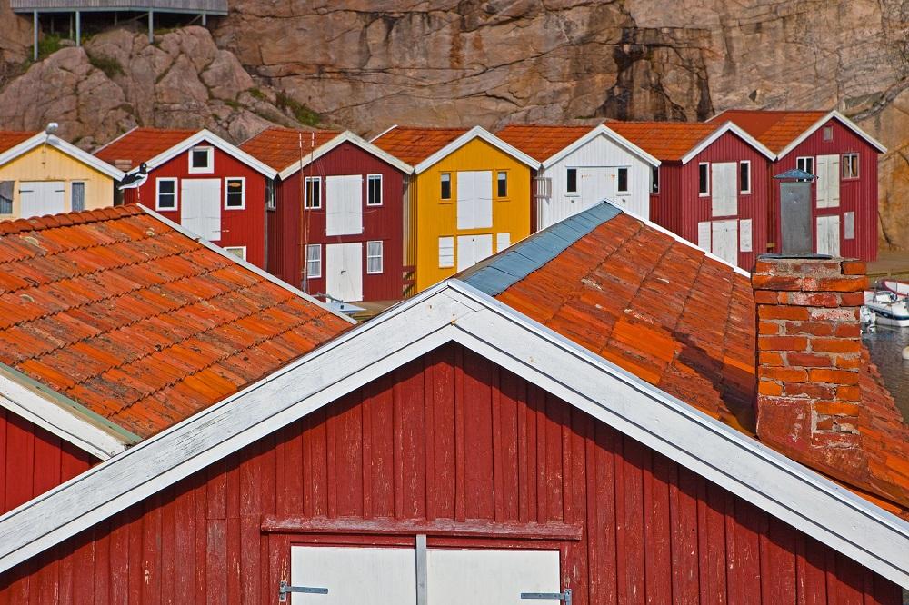 Smögen, Bohuslän. Hus