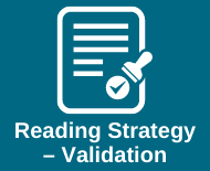 Link to validating reading strategies library webpage
