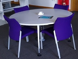 Table with power, no computer