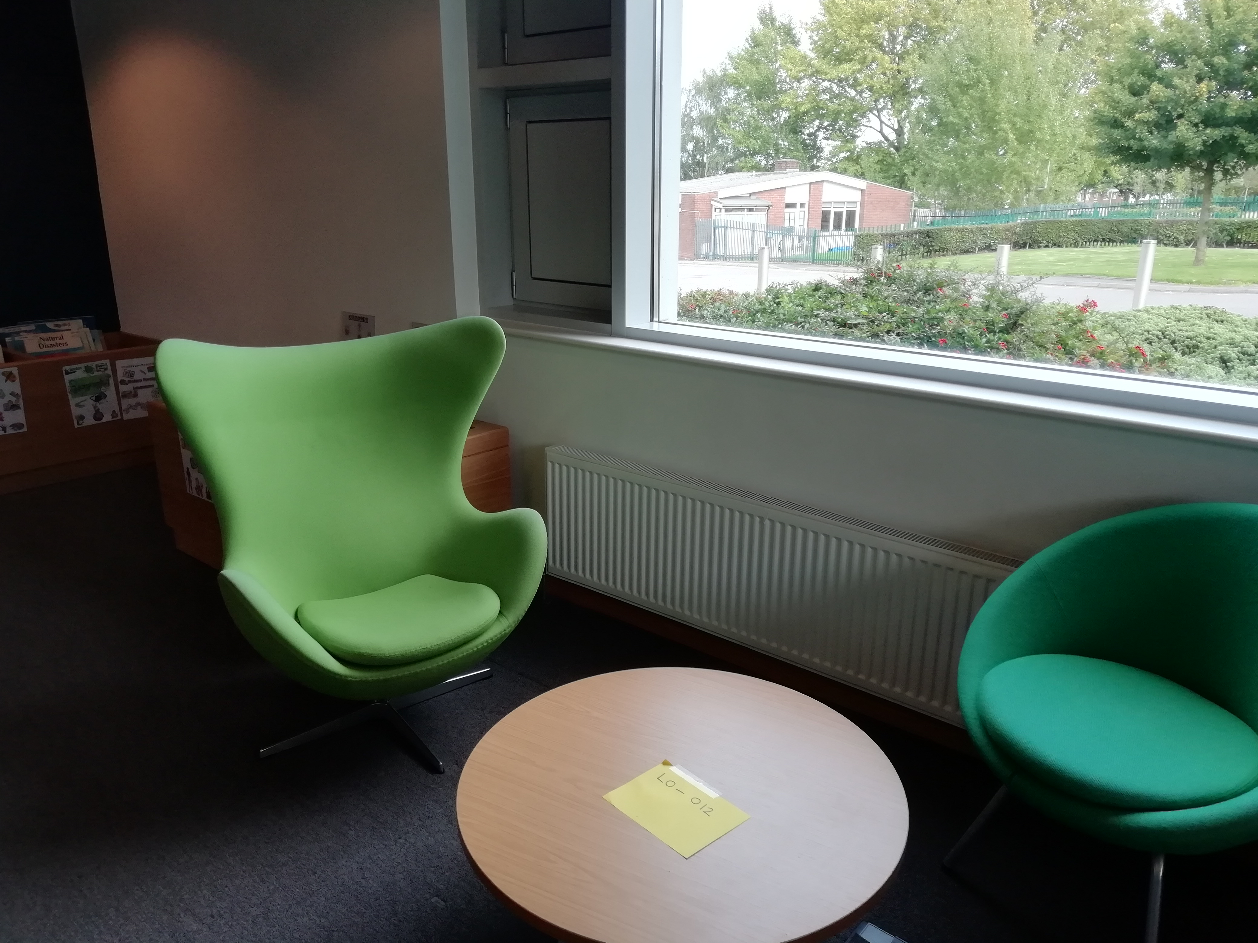 Example of study space with relaxed seating and no power socket