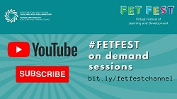 FEST poster with youtube channel details