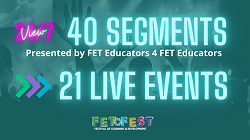 FETFEST poster advertising 40 segments and 21 live events