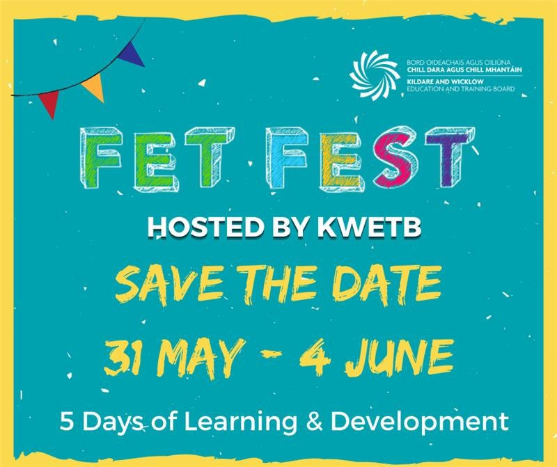Flyer for FETFEST - a virtual conference organised by KWETB f