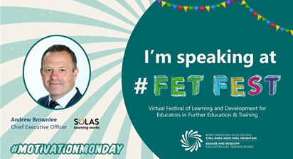 FETFEST flyer promting presentation by Andrew Browlee of SOLAS