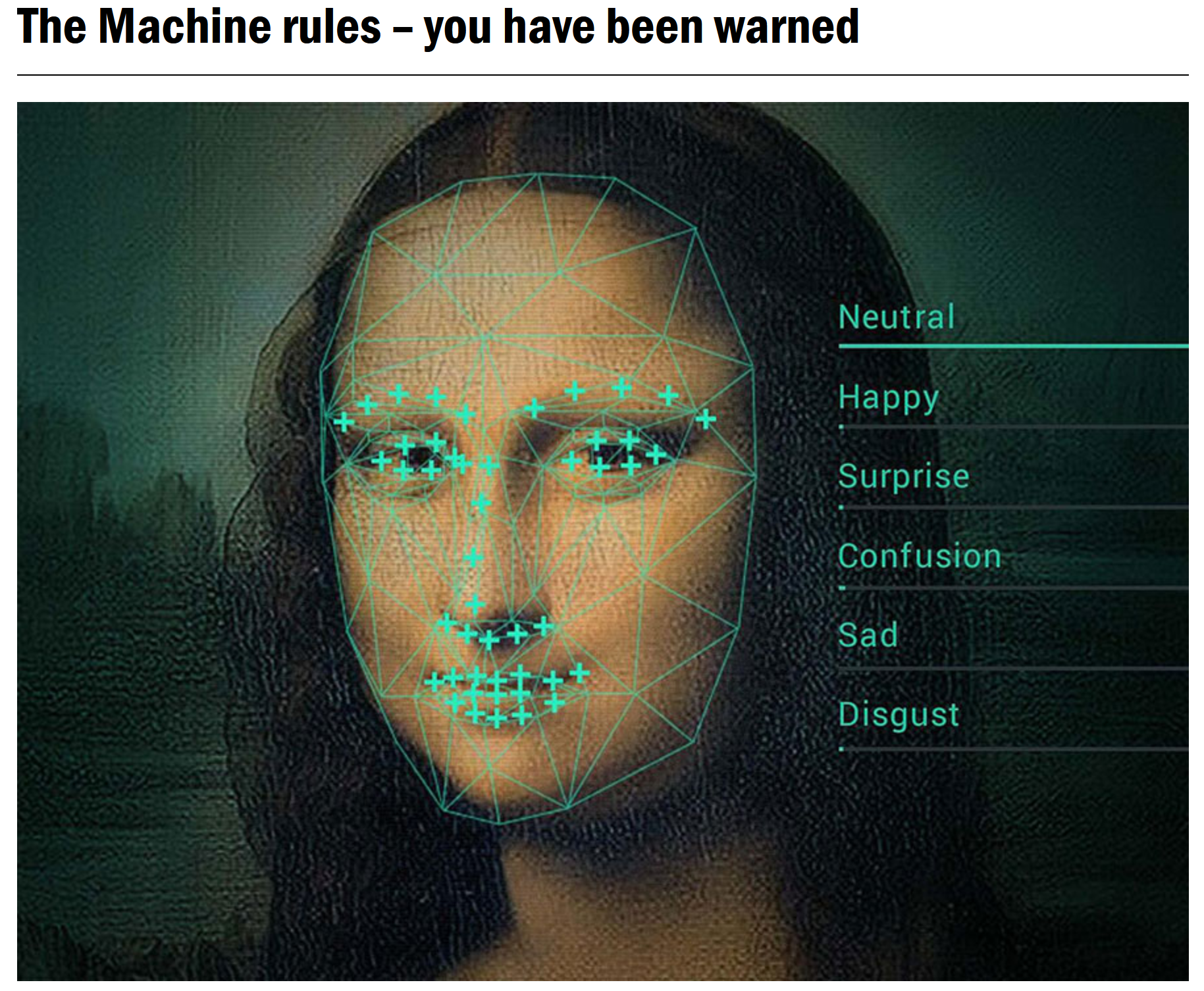 The Machine Rules article