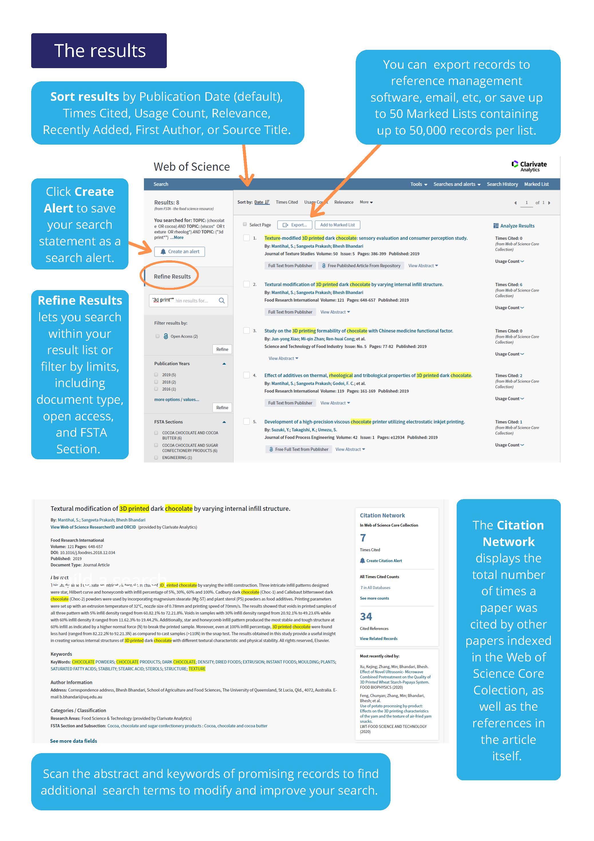 FSTA on Web of Science user guide
