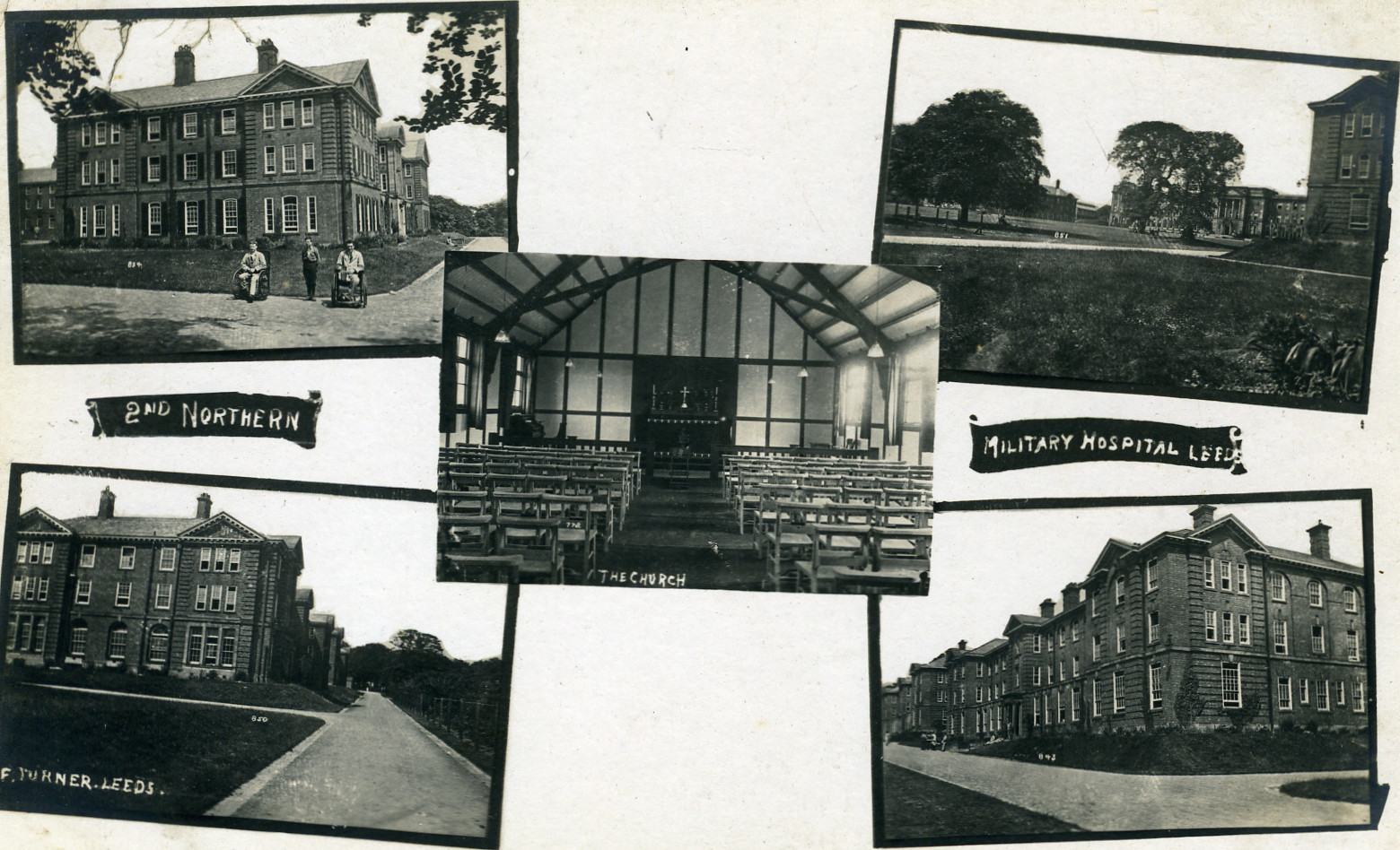 Postcard depicting Beckett Park military hospital