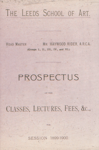 Early Leeds School of Art Prospectus