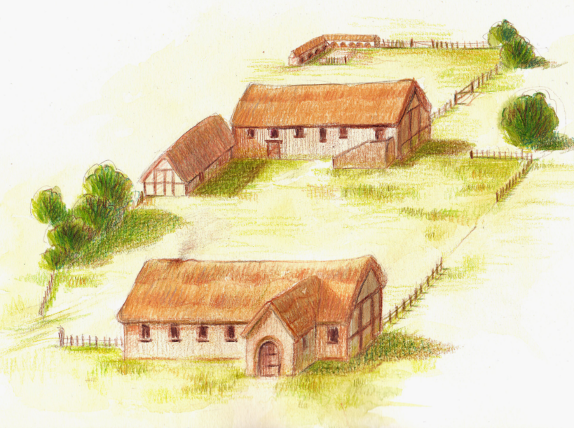 Artists impression of medieval Grange