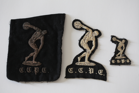 Discobolus badges dating from the 1950s