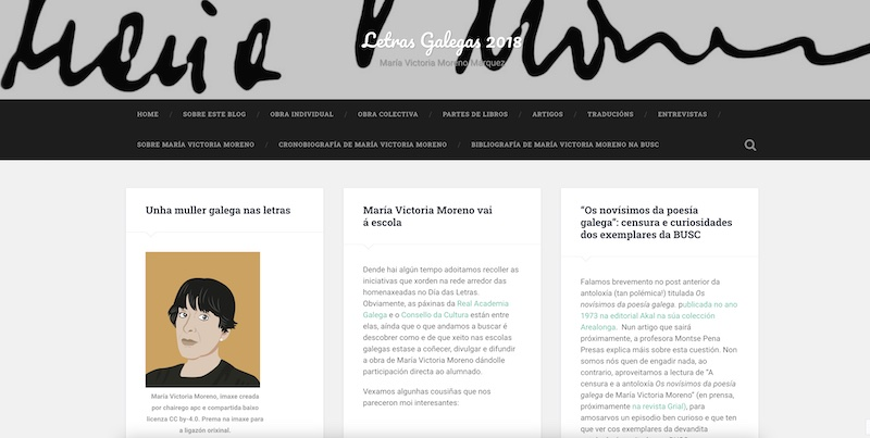 Letras Galegas 2018 - Blog