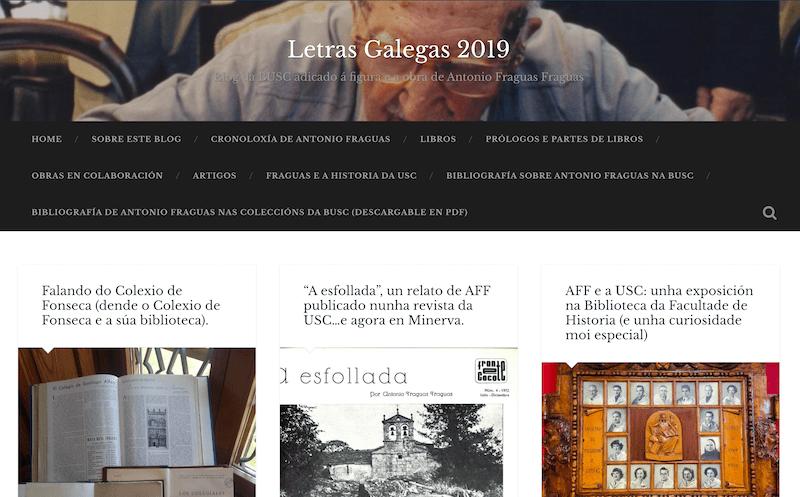 Letras Galegas 2019 - Antonio Fraguas - Blog