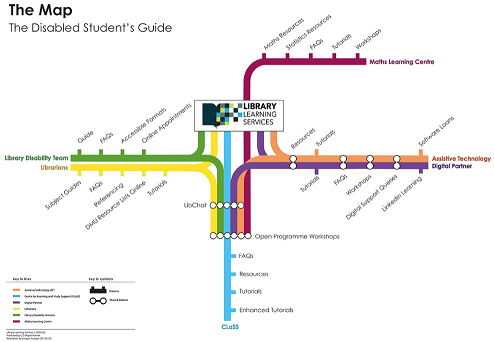The Disabled Student Guide in map format