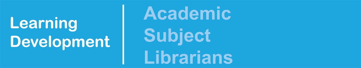 Academic Subject Librarians banner