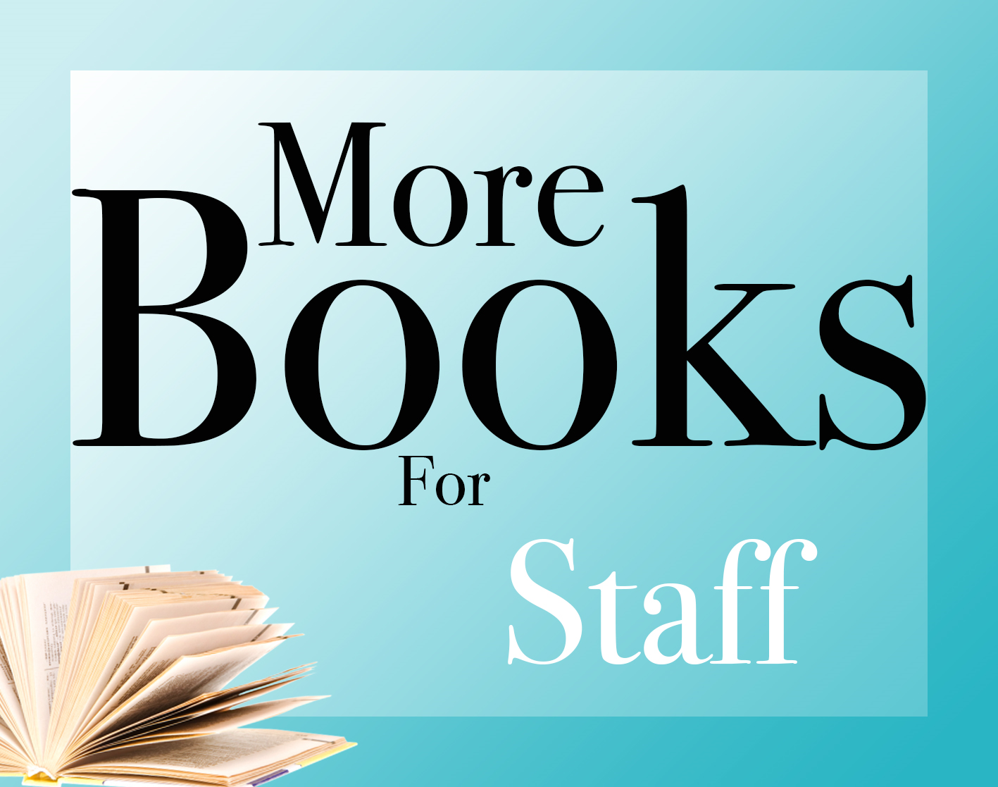 More books for staff logo