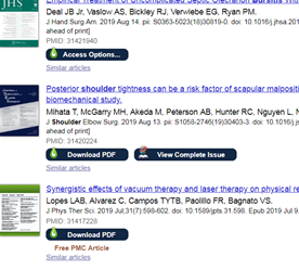 Screenshot of PubMed with LibKey Nomad links