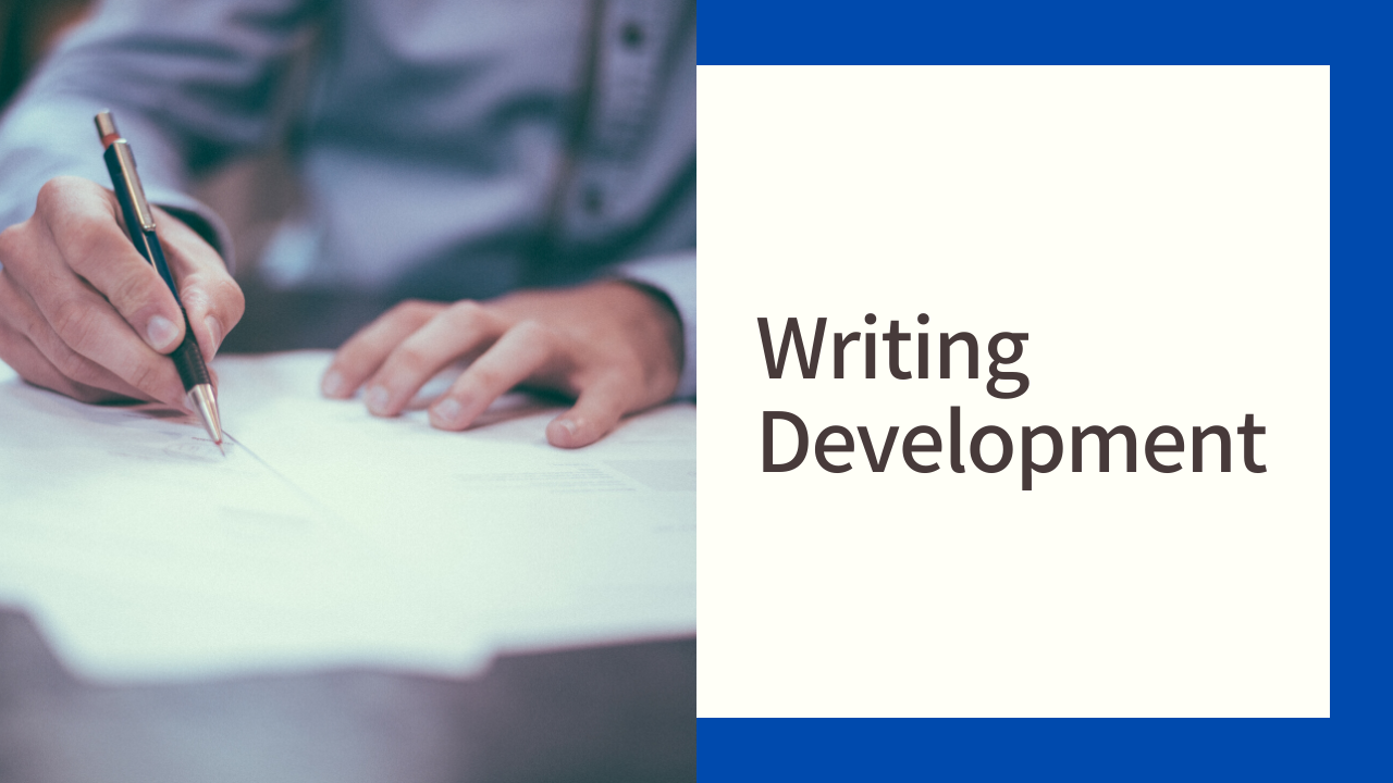 Writing development banner